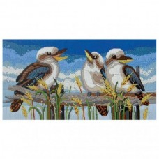 Country Threads Long Stitch Kit - KOOKABURRA LINE UP 28X53CM